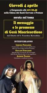 Locandina incontro suor Faustina