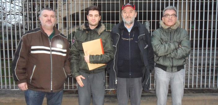 La delegazione di Pescatori che ha incontrato il Consigliere Teruzzi