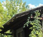 ben visibili le coperture in amianto sul tetto