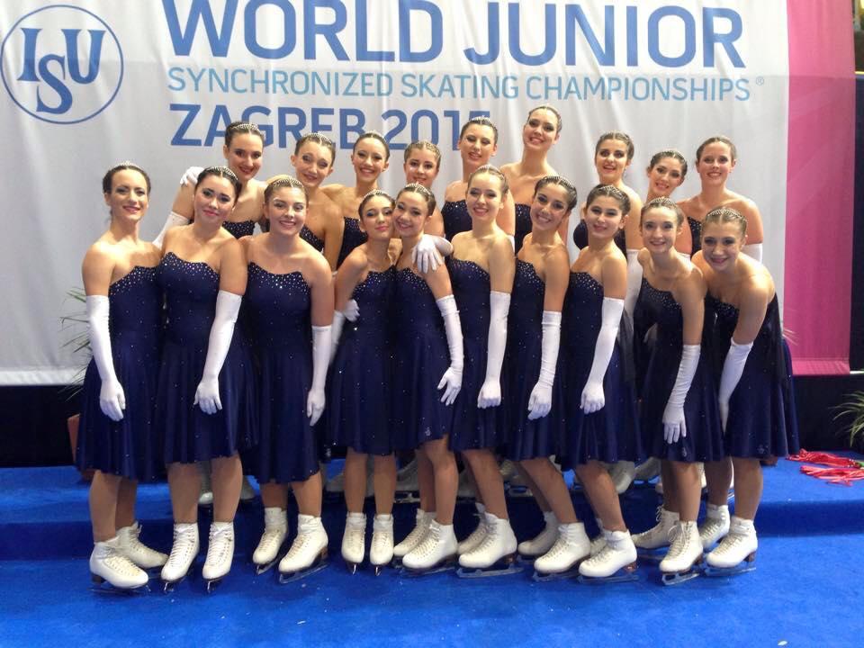 Le Hot Shivers ai Campioanti Mondiali 2015 a Zagabria