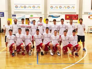 La formazione under 15 campione d'Italia 2016