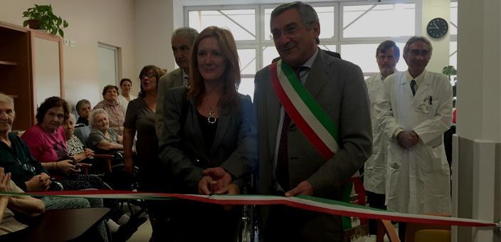 La Presidentessa Bensa Giuliana con il Sindaco Antonio Brescianini