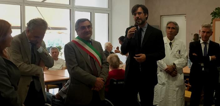 Il Consigliere Borghetti interviene all'inaugurazione