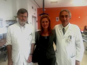 il Dott. Roberto Prina, La presidentessa dell'Anzienda Bensa Giuliana e il Dott. Antonino Frustaglia