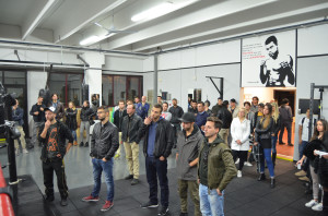 In tanti hanno assistito all'inaugurazione della nuova palestra