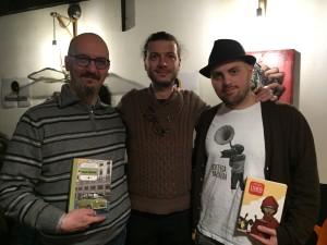 da sinistra, Francesco Barilli, Guido Ostanel e paolo Castaldi