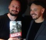 In foto, Fabio Geda e Marco Magnone, co-autori di Berlin