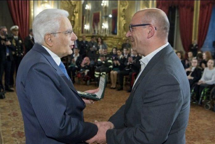 Il presidente Mattarella e Don Paolo Steffano