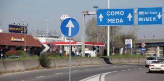 Disagi per gli automobilisti per temporanea chiusura di un tratto della Milano-Meda