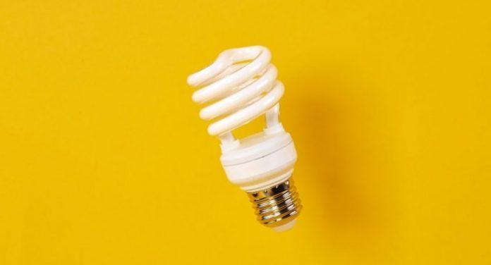Shot of energy efficient lightbulb
